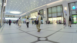 People Walking In An Underground Shopping Mall In  stock footage