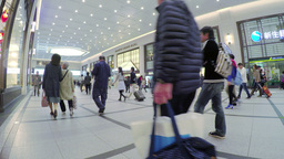 4k Timelapse Video Of People In An Underground Sho stock footage