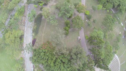 360 degree birdeye aerial pan - of Daan Park Footage