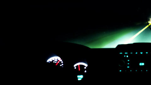 Timelapse of driving a car on night road Footage