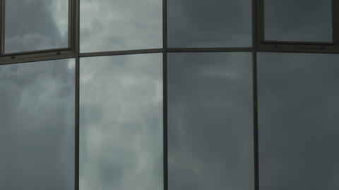 Storm Clouds Reflection stock footage