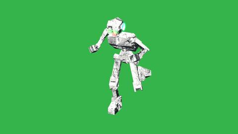 Robot Running Amuck: Green Screen + Matte stock footage
