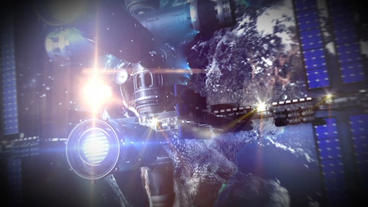 International Space Station After Effects Template stock footage