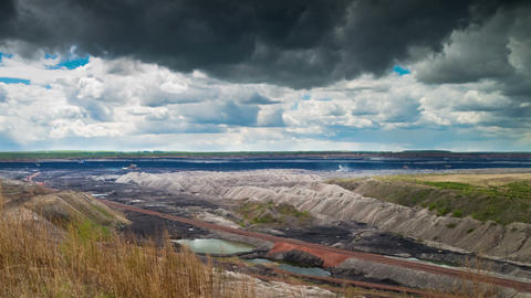 Opencast Mining, Time Lapse stock footage