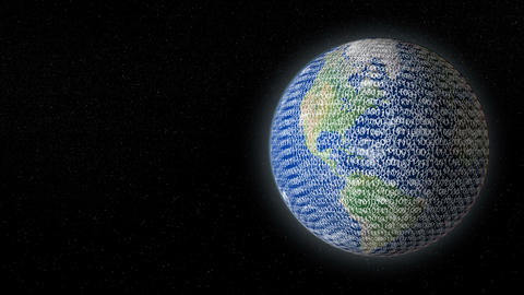 earth digital data overflow right 11598 Animation