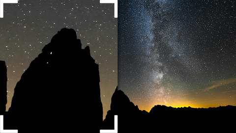4k UHD time lapse night climbing tre cime de 11599 Footage