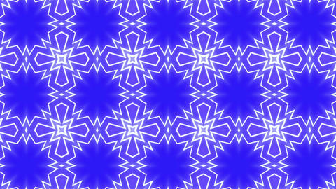 Star Radiation Kaleida blue Animation
