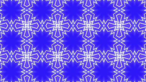 Star Radiation Kaleida blue Animation