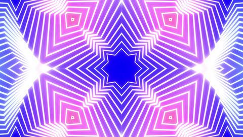 colorful 4 Leafs Clover Kaleida purple background Animation
