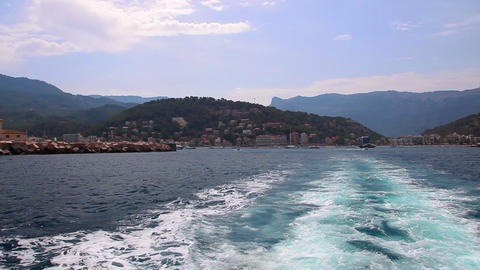 Mallorca Island View From Ship stock footage