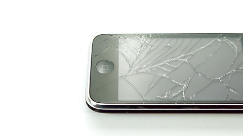 Broken iPhone lcd smartphone Footage