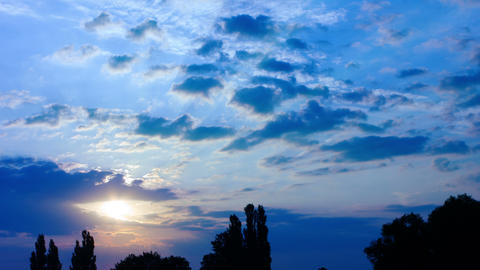 Sunrise Sun And Clouds Timelapse stock footage