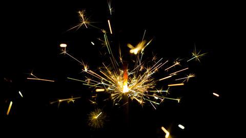 Sparkler sparks Footage