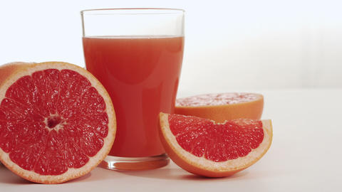 Grapefruit juice and grapefruit Footage