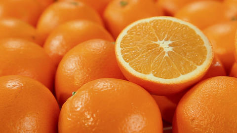 Orange fruits, oranges background Footage
