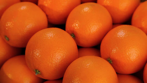 Beautiful ripe oranges Footage