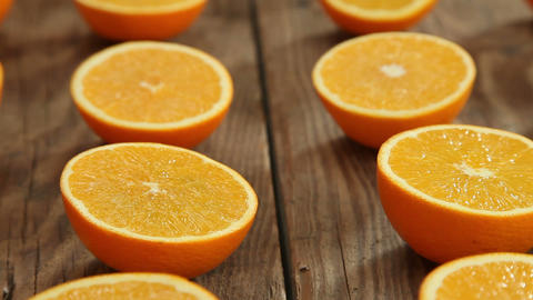 Orange Juicy Fruits stock footage