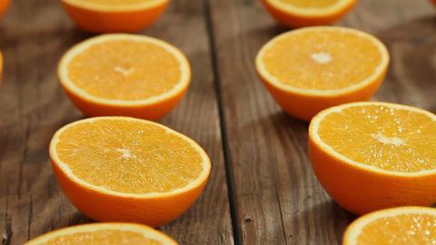 Orange juicy fruits Footage
