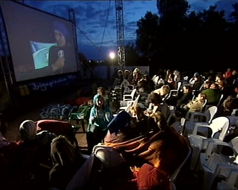 film festival open air 01 Stock Video Footage