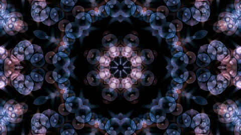 blue glass bubble to take flower lotus fancy pattern shape.Buddhism Mandala flower,kaleidoscope,orie Animation