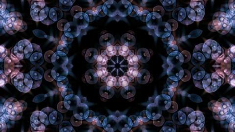 blue glass bubble to take flower lotus fancy pattern... Stock Video Footage