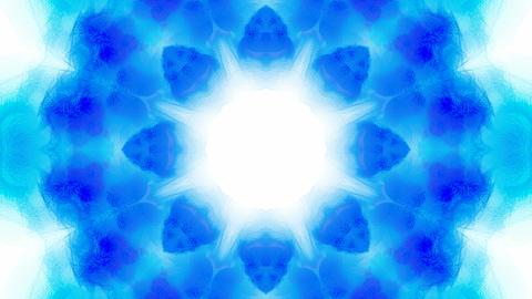 blue flower lotus pattern,orient fancy texture.Buddhism Mandala flower,kaleidoscope,oriental religio Animation