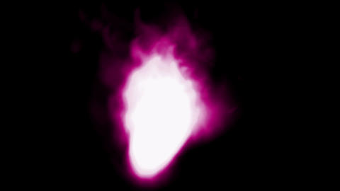 3d purple fire and... Stock Video Footage
