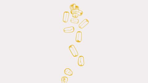 orange pills... Stock Video Footage