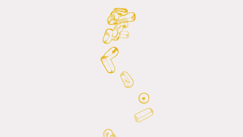 orange pills flying.Bullets,sugar,antibiotic,artery,capsule,chemical,disease,drug,illness,medicine Animation