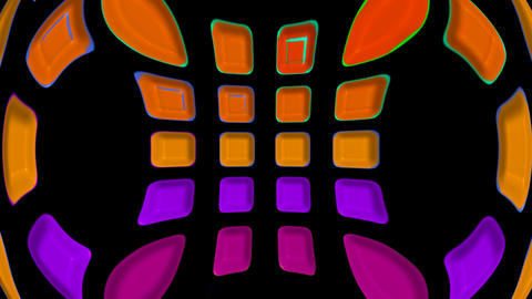 3d color disco shine shape background,computer interface.plastic,circle,engineering,light,pipe Animation