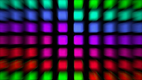 color rectangle matrix disco... Stock Video Footage