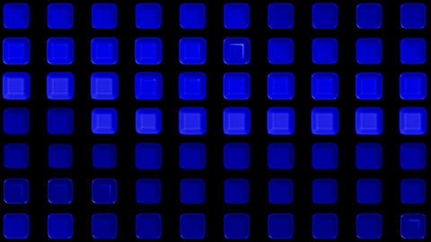 blue rectangle matrix disco mosaics and tile background.machine,pattern,technology,media,pulse,3d,lu Animation