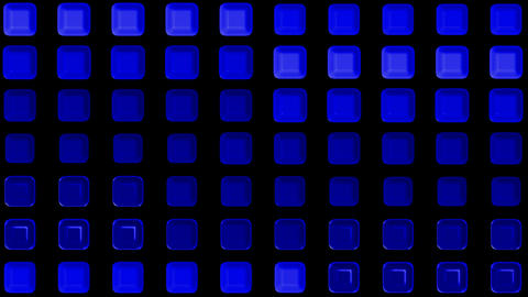 blue rectangle matrix disco mosaics and tile... Stock Video Footage