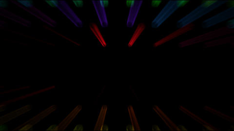 color stage rotate disco neon rays... Stock Video Footage