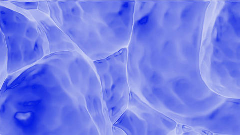 3d blue cells in... Stock Video Footage