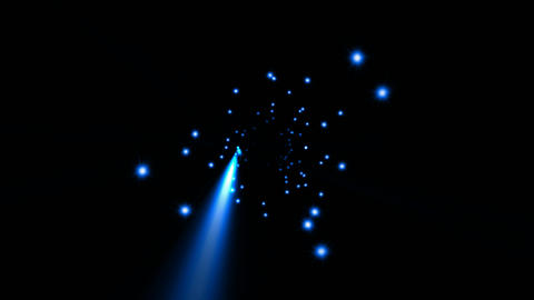 star field,blue ray light in... Stock Video Footage