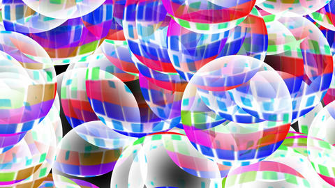 color glass balls slowly falling,mirrorball.creative,energy,flare,lens,light,ray,shine,3d,ball,circl Animation