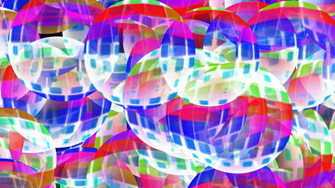 color glass balls slowly... Stock Video Footage