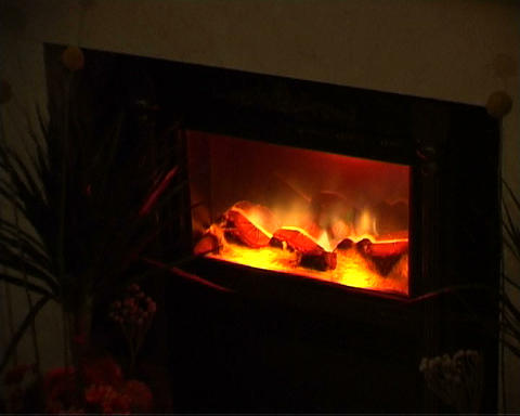 fire-place Stock Video Footage