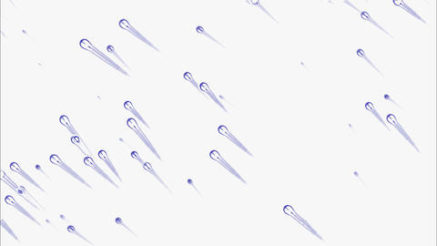 blue sperm or cell flying,like as... Stock Video Footage
