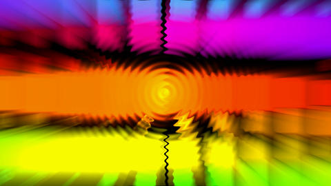 color light rays and ripple,computer grid web tech... Stock Video Footage