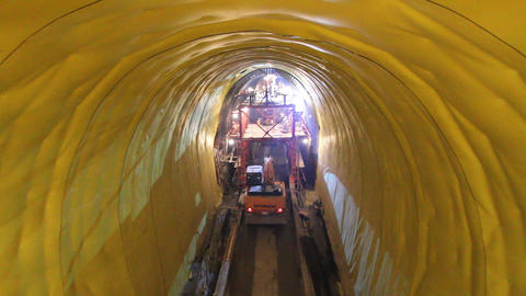 Tunnelling 10 Stock Video Footage