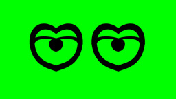 HEART SHAPED EYES Animation