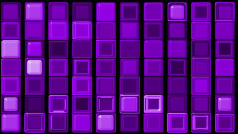 purple glass rectangle matrix... Stock Video Footage
