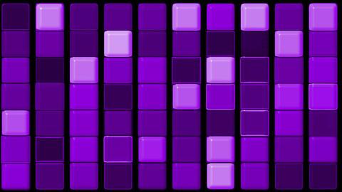 purple glass rectangle matrix... Stock Video Footage