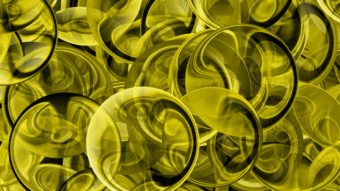 Yellow glass balls... Stock Video Footage