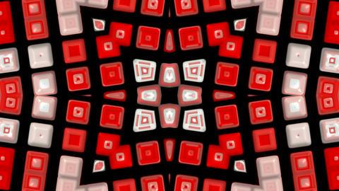 red deform mosaics... Stock Video Footage