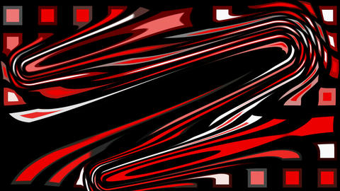 abstract red morph mosaics shape... Stock Video Footage