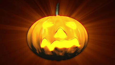 Halloween Pumpkin Head 02 Stock Video Footage