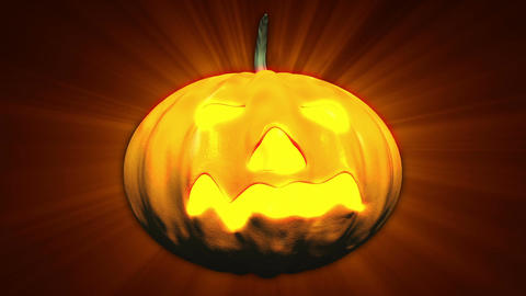 Halloween Pumpkin Head 02 Stock Video Footage